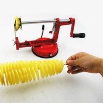 Maquina Cortar Cortador Fatiador Batata Frita Palito Espiral Vegetais Fruta Spiral Plus Picador Queijo Tomate Almoço Pro - Wincy