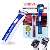 Maquina de Barbear Aparador de Pelos Corta Barba Pezinho Nova - Nova Hair Profissional
