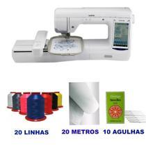 Maquina de Bordados Brother Bp 2150L Kit Inicial com 20 Linhas de Bordar Ricamare -