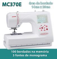 Máquina de Bordar Computadorizada MC370E Janome - 100 Tipos de Bordados na Memória Bivolt -