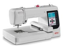 Máquina de Bordar ELNA 8100 - 14x14cm. 70 Bordados na memória -