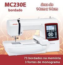 Maquina De Bordar Janome Modelo Mc 230e Aréa De Trabalho 14x14cm -