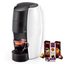 Máquina de Café Espresso TRES Lov Branco Brilhante 220V Grátis 3 Caixas de Capsulas - Tres Coracoes