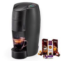 Máquina de Café Espresso TRES Lov Carbono 220V Grátis 3 Caixas de Capsulas - Tres Coracoes