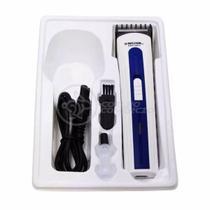 Máquina de Cortar Cabelo Barba Pelos Pezinho Portátil NHC-3915 Bivolt Recarregável Azul - Nova -