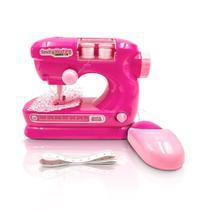 Maquina de Costura Brinquedo Menina Infantil Mini Atelie 35cm - Multikids