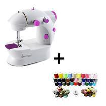 Máquina de Costura Compacta Bivolt Portátil e Leve - SteamMax Com kit costura 60 Peças -