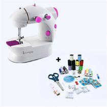 Máquina de Costura Compacta SteamMax MaxHome SM-500 Bivolt + Kit de Costura 100 Peças Steam Max -