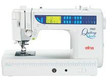 Máquina de Costura Doméstica, Agulha Dupla, 126 Pontos, Corte de Linha, Braço Longo, 1000ppm, 7300 - Elna