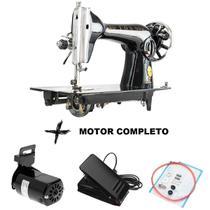 Máquina de costura doméstica reta pretinha + motor completo - Dragonfly