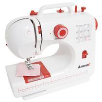 Máquina de Costura Elétrica Portátil 12 Pontos com Pedal Luz Led Alça Compacta Bivolt Amvox AMQ 012 -