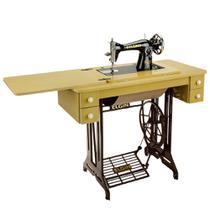 Máquina de Costura Elgin B3 com Mesa e 4 gavetas Prega Zípers e Costura Reta -