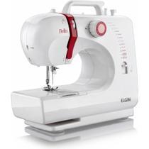 Máquina de Costura Elgin Bella BL 1200 com 6 pontos úteis e Luz na Costura Bivolt  Branca/Lilás -