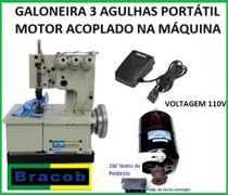 Máquina De Costura Galoneira Bracob Bc 2600 3 Agulhas 110V -