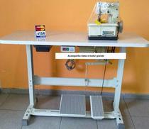 Máquina de Costura Galoneira Semi-Industrial Completa, 2 Agulhas, 3 Fios, Lubrif. Manual, 2000rpm, BC2600 - Bracob