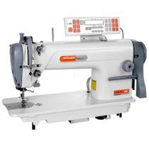 Máquina de Costura Industrial Reta Eletrônica, 1 Agulha, 2 Fios, 4500ppm, Lubrif. Automática, L918M113 - Siruba