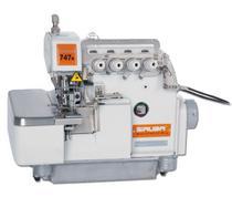 Máquina de Costura Overlock Industrial, Ponto Cadeia c/ BK, 2 Agulhas, 4 Fios, Lubrif. Automática, 7500ppm, 747K/BK - Siruba