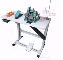 Máquina de Costura Overlock Semi-Industrial c/ Mesa e Motor Acoplado, Ponto Corrente, 1 Agulha, 3 Fios, Transp. Simples, Lubrif. Manual, GN1-6D - Diversas