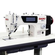 Maquina de costura reta eletronica carter blindado baoyu gt 280 - 220 v com kit de calcadores -