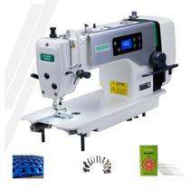 Maquina de costura reta motor direct drive zoje a6000 com kit de calcadores - 220 v -