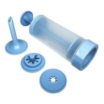 Máquina de Fazer Churros Manual Azul - Capricho