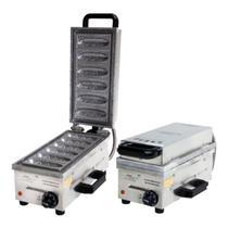 Maquina de Fazer Crepe No Palito Profissional Com 6 Cavidades Em Aço Inox - Ademaq (220v) -