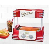 Máquina de Hot Dog Nostalgia Retrô, Vermelha, RHD800, 8 Salsichas, 110V -
