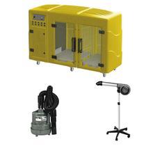 Maquina de Secar Amarela + Secador 5000 e Soprador Maxx Cinza Kyklon -