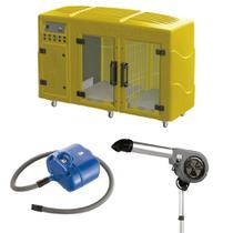 Maquina de Secar Amarela + Secador 7000 Cinza e Soprador Revolution Azul Kyklon -