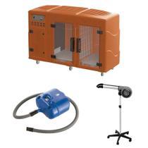 Maquina de Secar Laranja + Secador 5000 Cinza e Soprador Revolution Azul Kyklon -