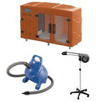Maquina de Secar Laranja + Secador 5000 Cinza e Soprador Rx Azul Kyklon -