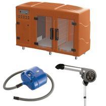 Maquina de Secar Laranja + Secador 7000 Cinza e Soprador Revolution Azul Kyklon -