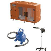 Maquina de Secar Laranja + Secador 7000 Cinza e Soprador Rx Azul Kyklon -