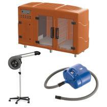 Maquina de Secar Laranja + Secador Maestro Cinza e Soprador Revolution Azul Kyklon -