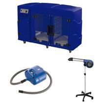 Maquina de Secar + Secador 5000 e Soprador Revolution Kyklon Azul -