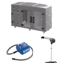 Maquina de Secar + Secador 7000 Cinza e Soprador Revolution Azul Kyklon -
