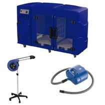 Maquina de Secar + Secador Maestro e Soprador Revolution Kyklon Azul -