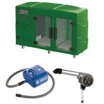 Maquina de Secar Verde + Secador 7000 Cinza e Soprador Revolution Azul Kyklon -