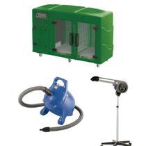 Maquina de Secar Verde + Secador 7000 Cinza e Soprador Rx Azul Kyklon -