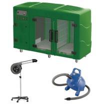 Maquina de Secar Verde + Secador Maestro Cinza e Soprador Rx Azul Kyklon -