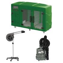 Maquina de Secar Verde + Secador Maestro e Soprador Maxx Cinza Kyklon -