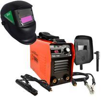 Maquina De Solda Inversora 160a Bivolt Twi180 Terra + Mascara - Center coisas