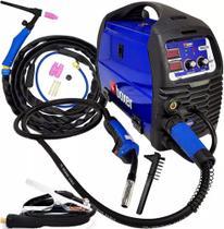 Máquina De Solda Inversora 160A Multiprocesso Bivolt Mig Tig Eletrodo Migflex160bv  + Tocha Tig Seca - Boxer