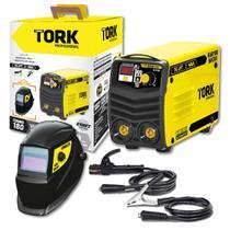 Máquina de Solda Inversora 180A Super Tork 220V KAB 180 Micro + Máscara Automática Kab Solar -