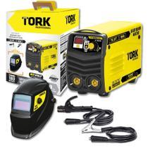 Máquina de Solda Inversora 180A Super Tork Kab 180 Bivolt + Máscara Automática Kab Solar -