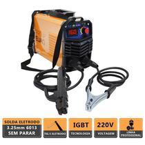Máquina de solda inversora portátil gp 160a 220v + máscara automática com regulagem - pró euro - Pro Euro