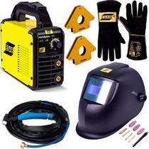 Maquina de Solda Inversora Tig Esab 140I C Tocha Mascara Autimatica e Luvas 220v -