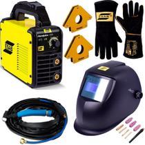 Maquina de Solda Inversora Tig Esab 160I C Tocha Mascara Autimatica e Luvas 220v -
