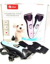 Maquina De Tosa 3w S/Fio Gatos Cães Recarregável Aiker AG-097 -