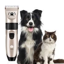 Máquina De Tosa Cães E Gatos 04 Pentes Recarregável - Reparocell
